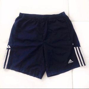 Adidas classic stripes athletic shorts large